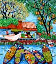 Tran Thu Huong-By the river-110x130cm