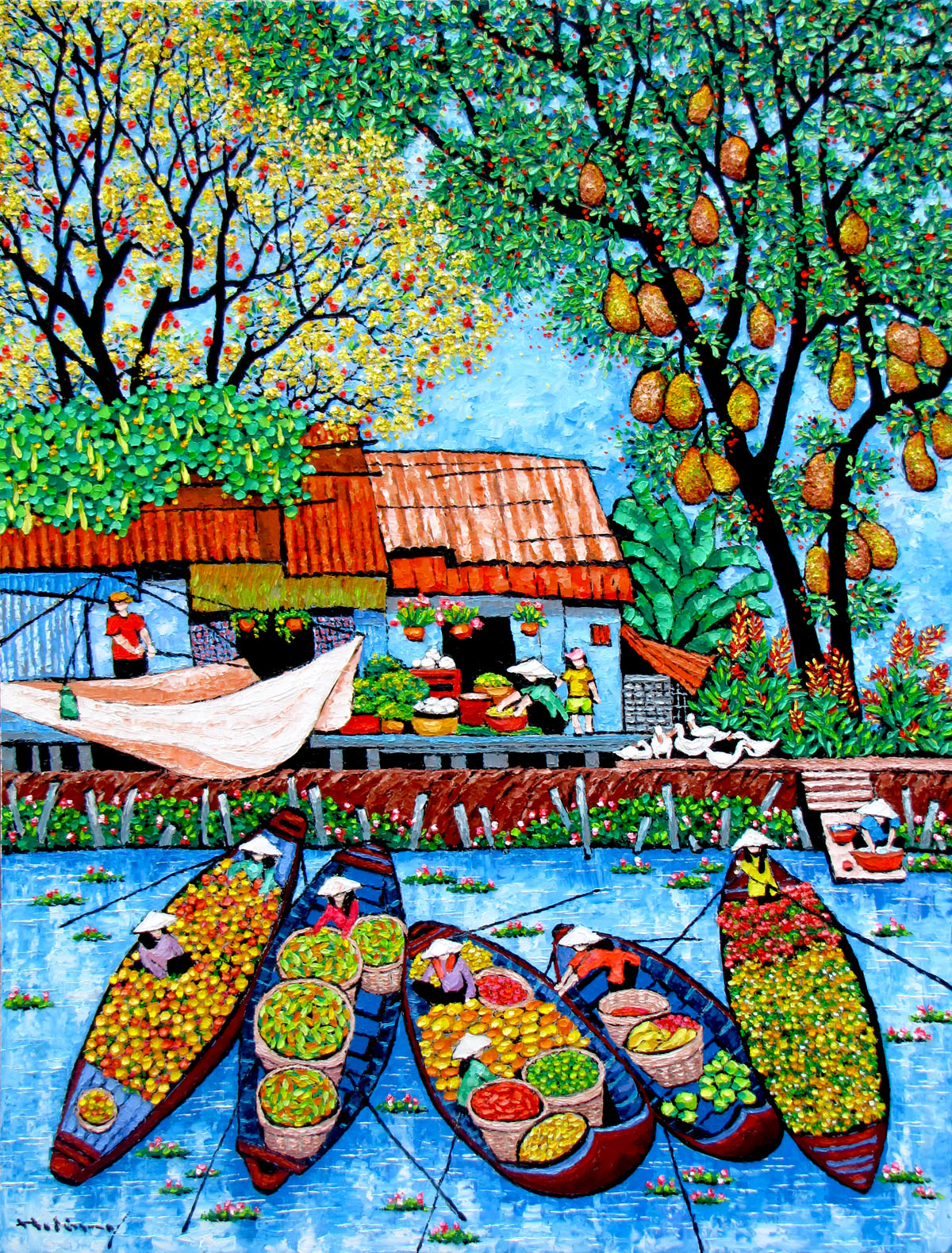 Tran Thu Huong-By the river-110x130cm