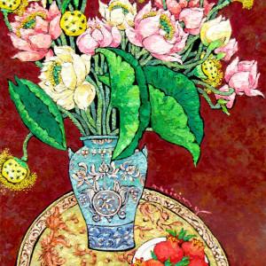 Vase of Lotus 02-TTH
