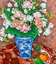 Vase of lotus -TTH