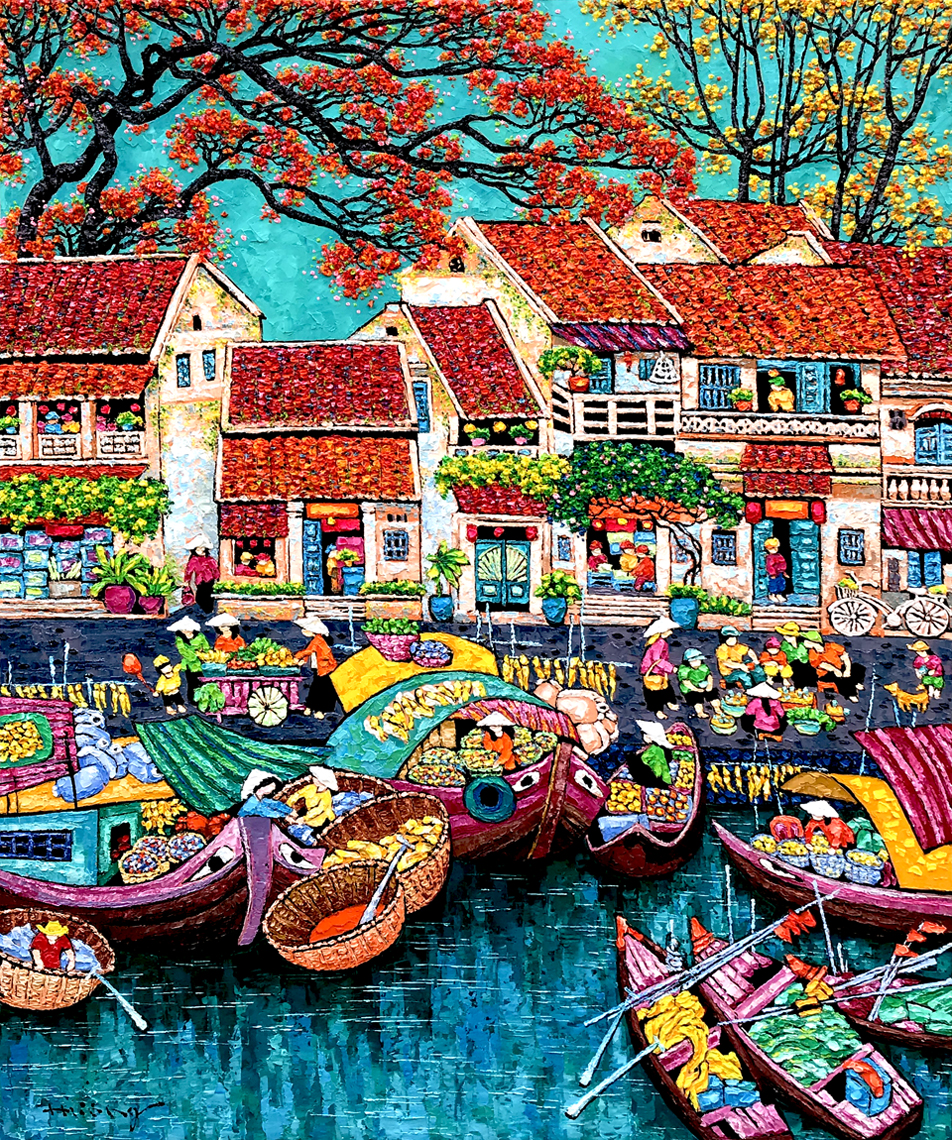 Market by the river 04