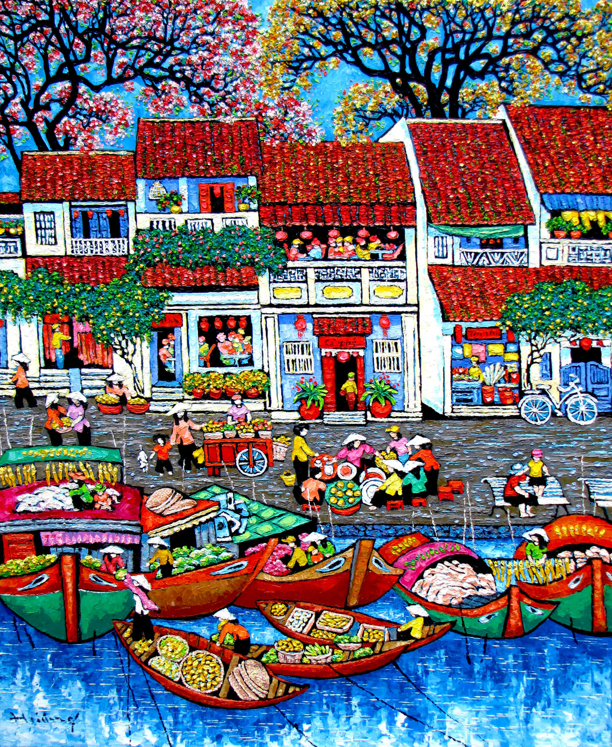 Market by the river-100x120