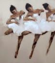 Ballerinas in white 01- 80x95