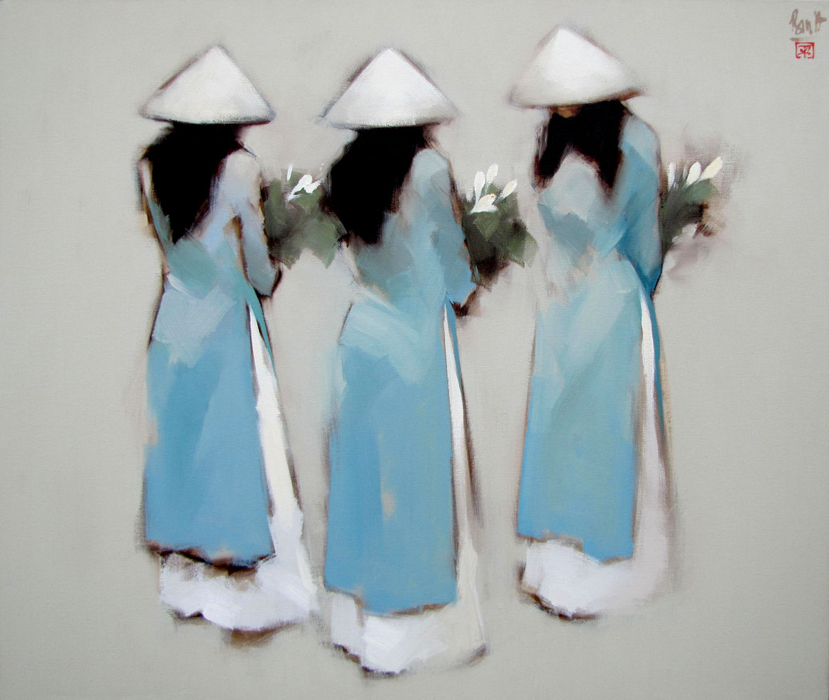 Blue flowers 01-80x95