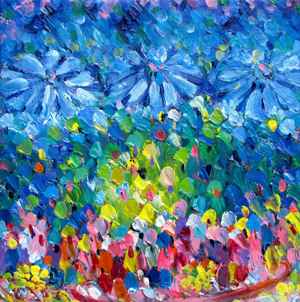 Flower boat 05-60x60