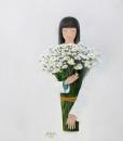 Lady with daisy flowers-80x90-BaoHanh