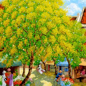 Street corner in Spring 01-100x120