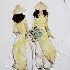Ladies in yellow-39x54