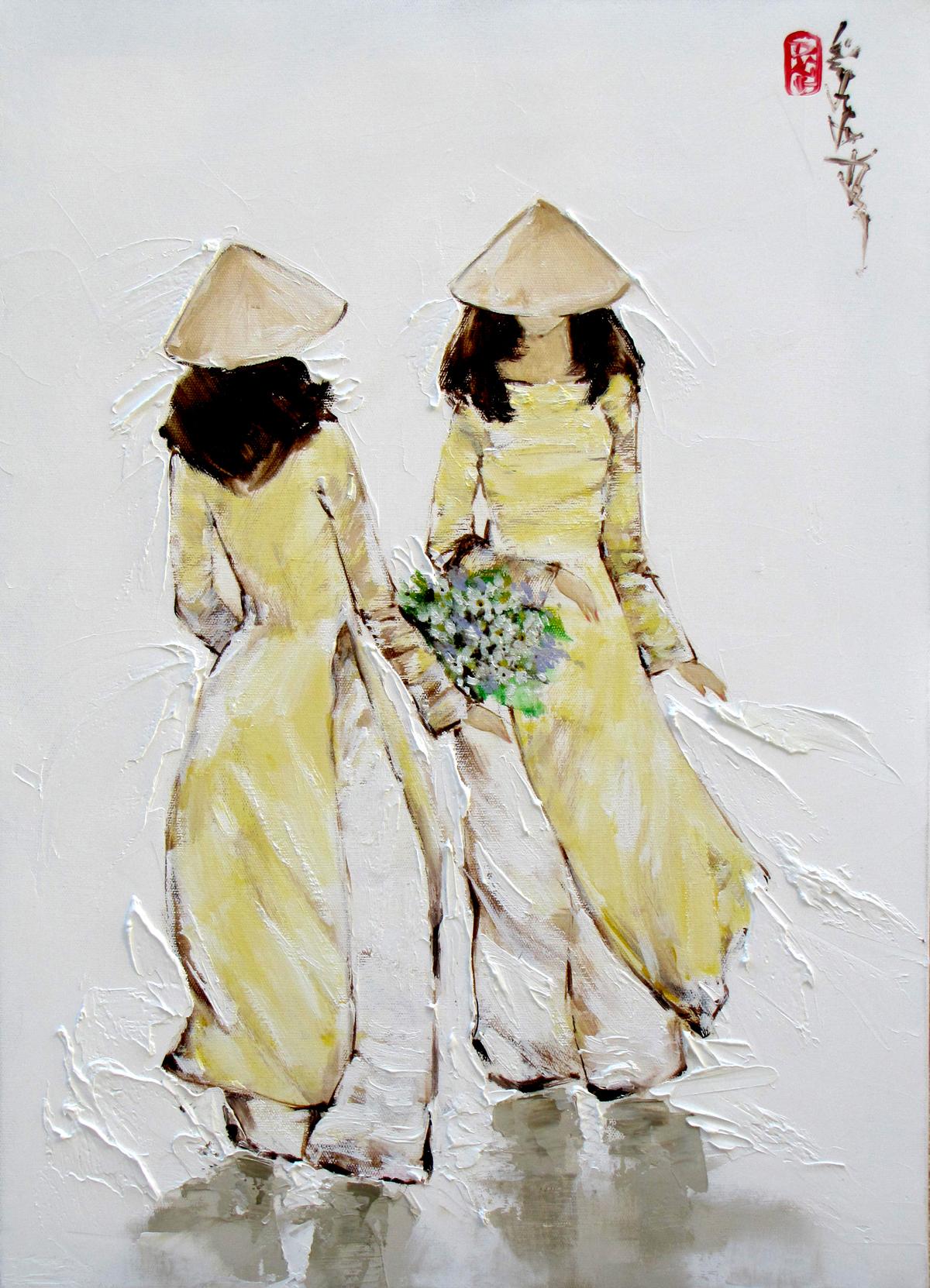 Ladies in yellow-39x54