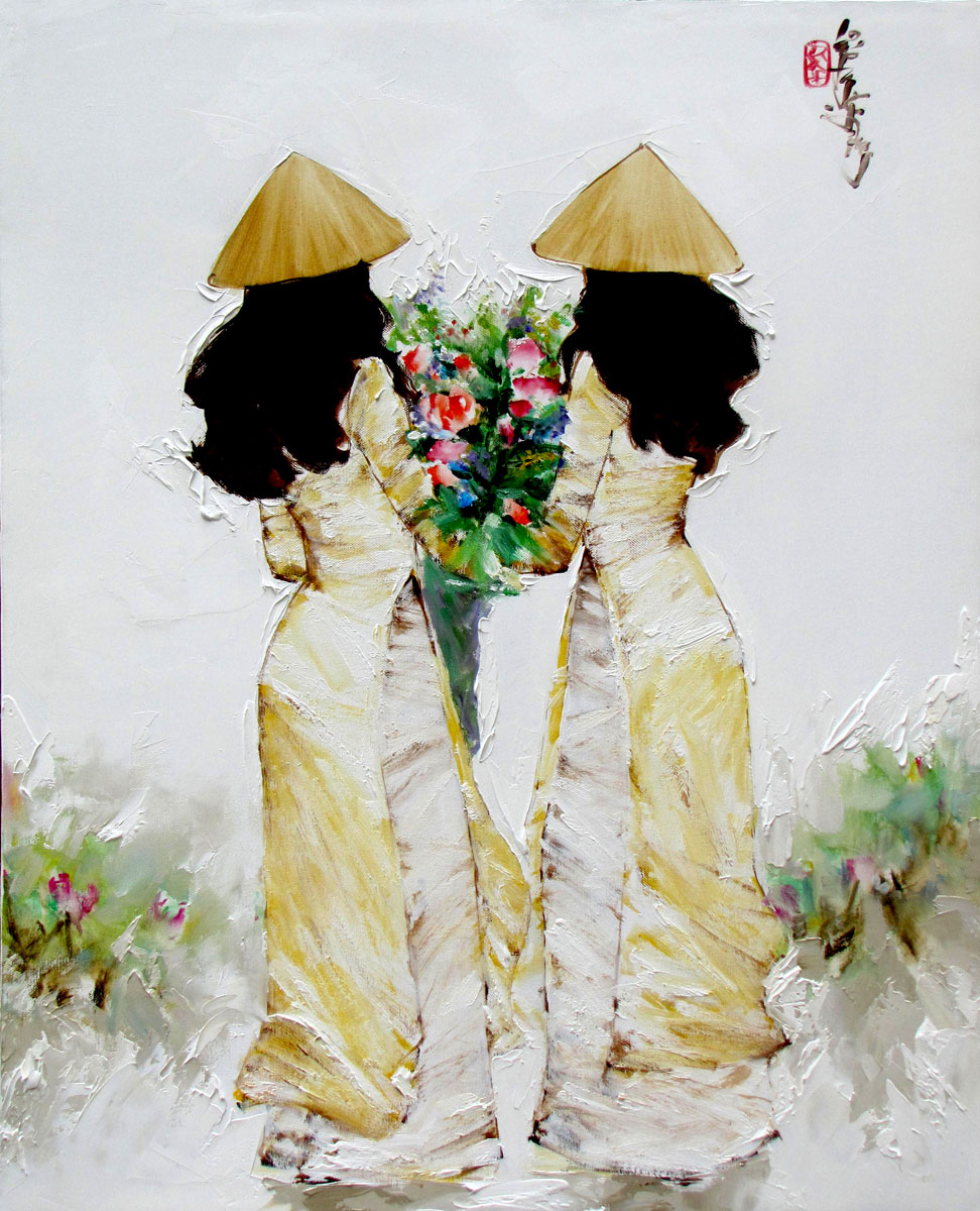 Ladies in yellow-65x80