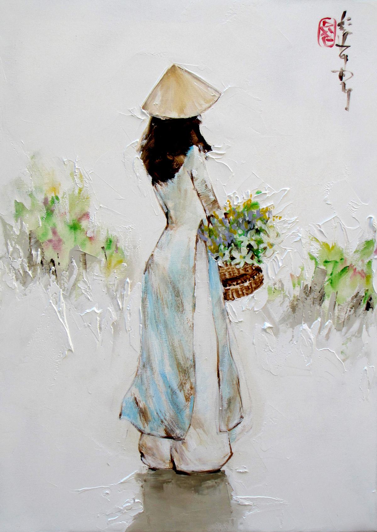 Lady in blue-39x54