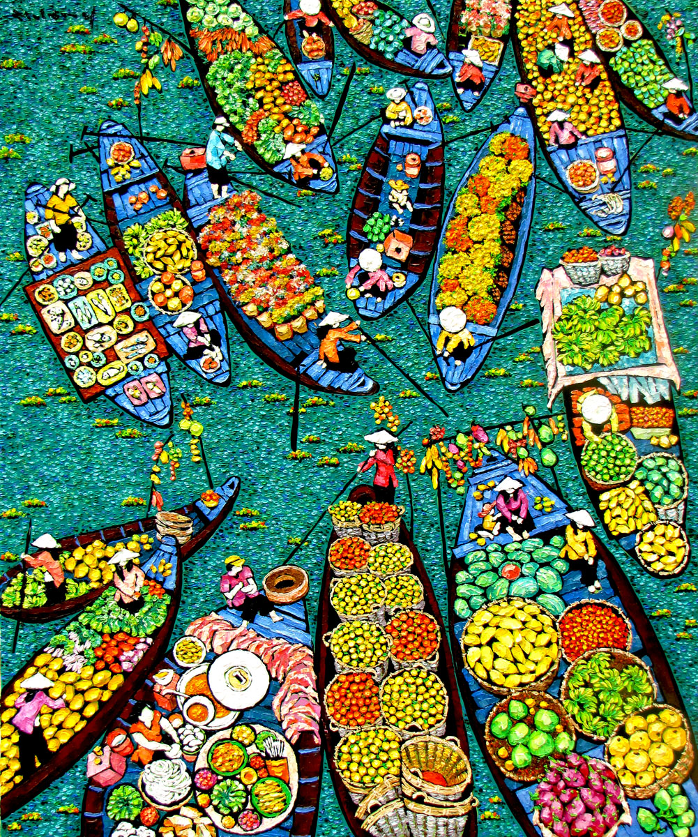 Floating market-100x120