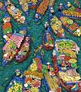 Floating market 100x120cm