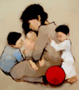 Mother and sons-80x95cm