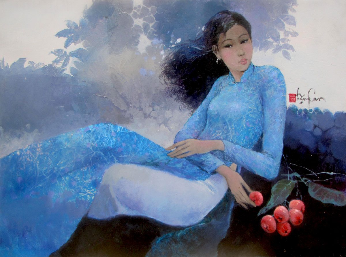Young Lady in the garden-60x80