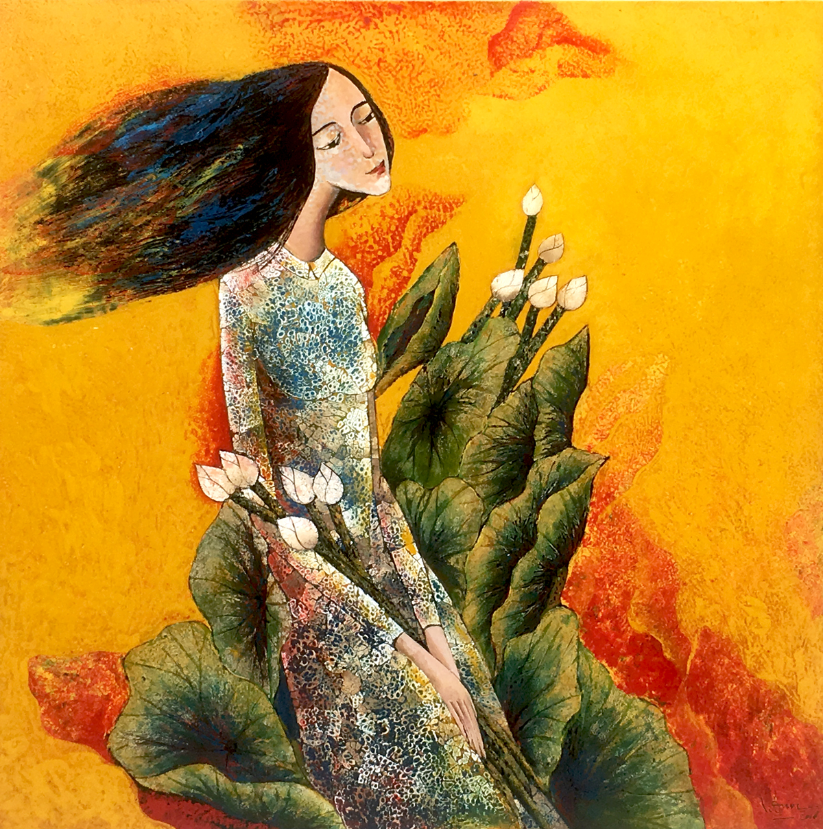 lady with lotus 04
