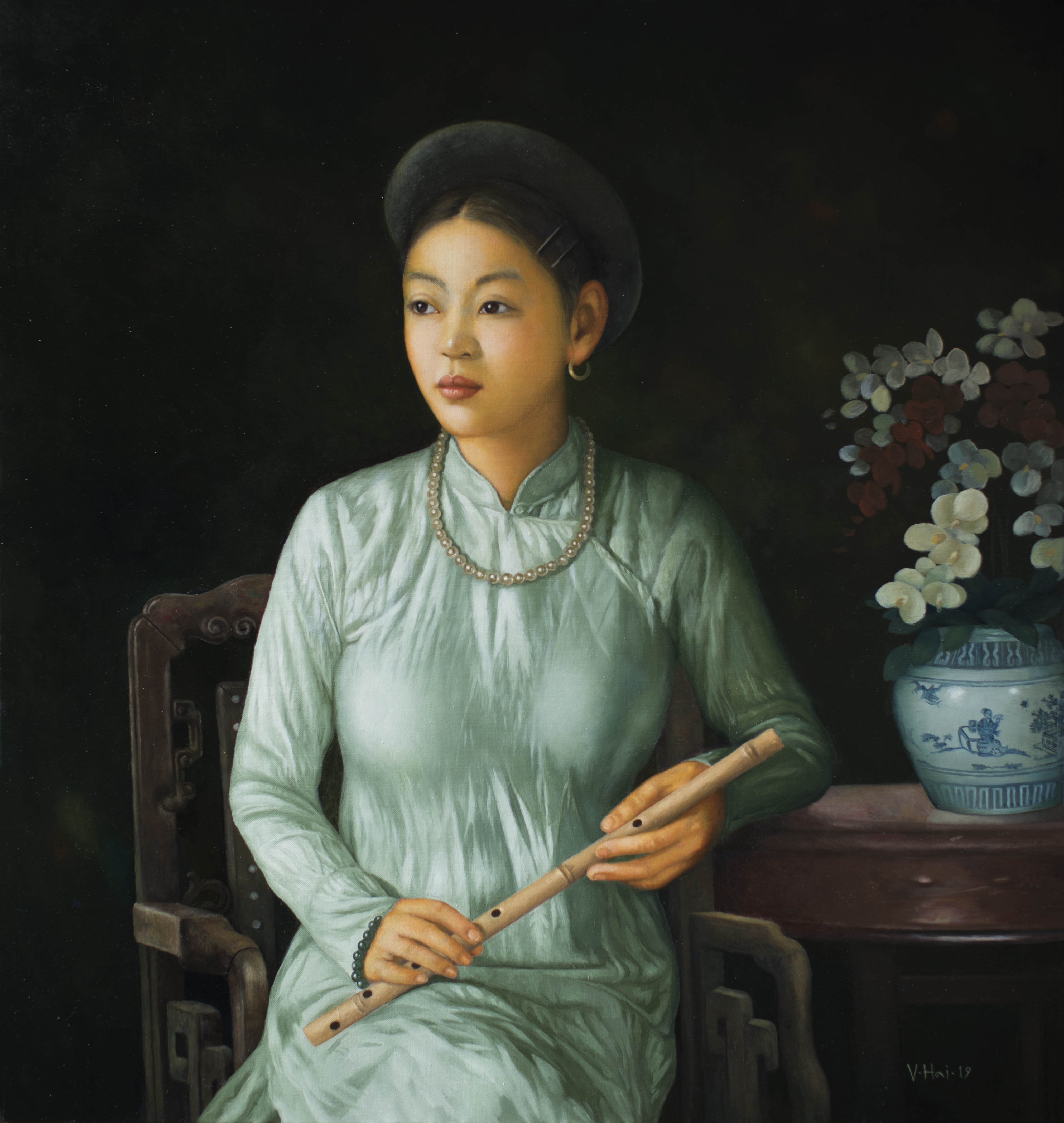 Girl with the flute 02