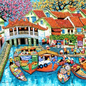 Market by the river 03- TTH-100x120
