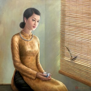 Lady and the bird-70x70